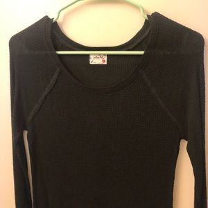 Free People Basic Black Long Sleeve